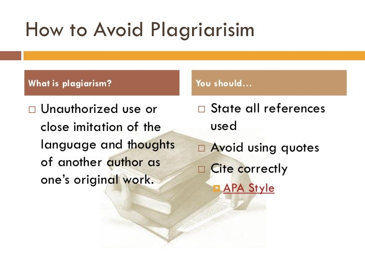 the three main points to avoid unintentional plagiarisms Types of plagiarism academic integrity  the rest of this page shows examples of bad academic practice and how to avoid it direct copying.