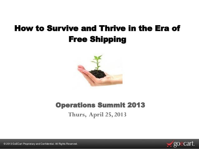 How to survive and thrive in the era of free shipping