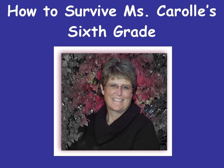 How To Survive Sixth Grade
