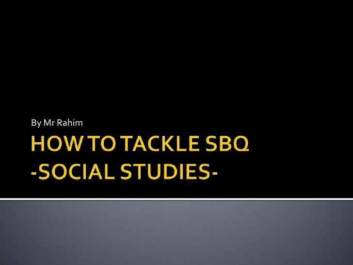 Social Studies Essays