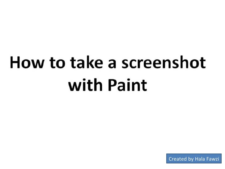 How to take a screenshot with paint2