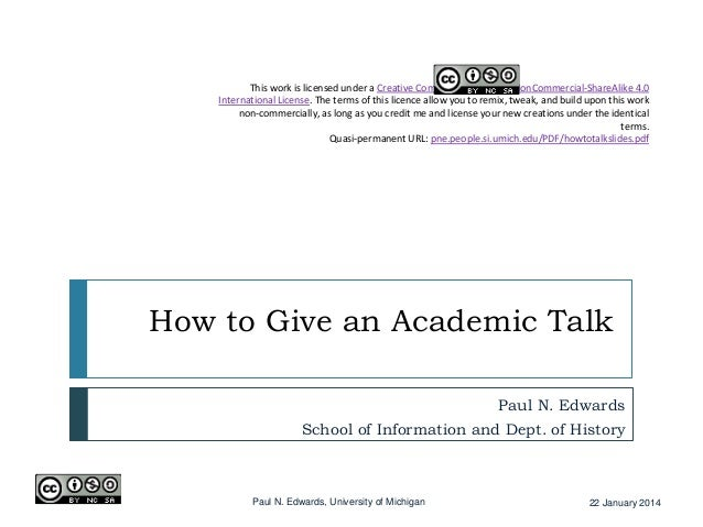 How to Give an Academic Talk
