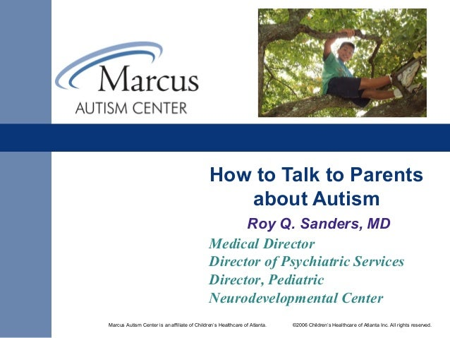 How to talk to parents about autism