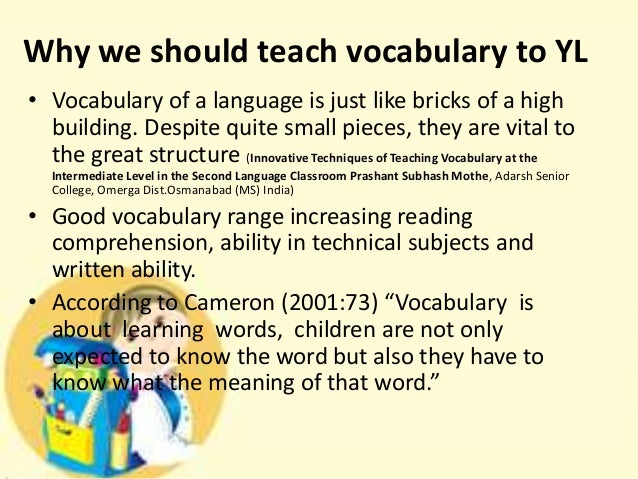 vocabulary in language learning essay