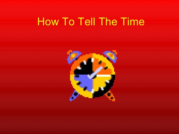 How to tell the time pp