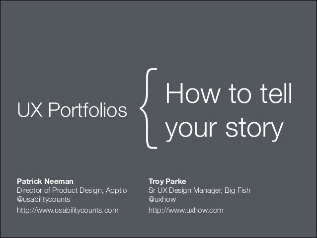 UX Portfolios: How to tell your story