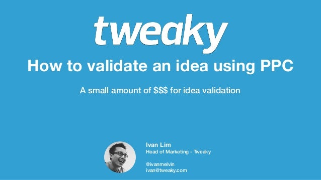 How to validate a Startup Idea using PPC