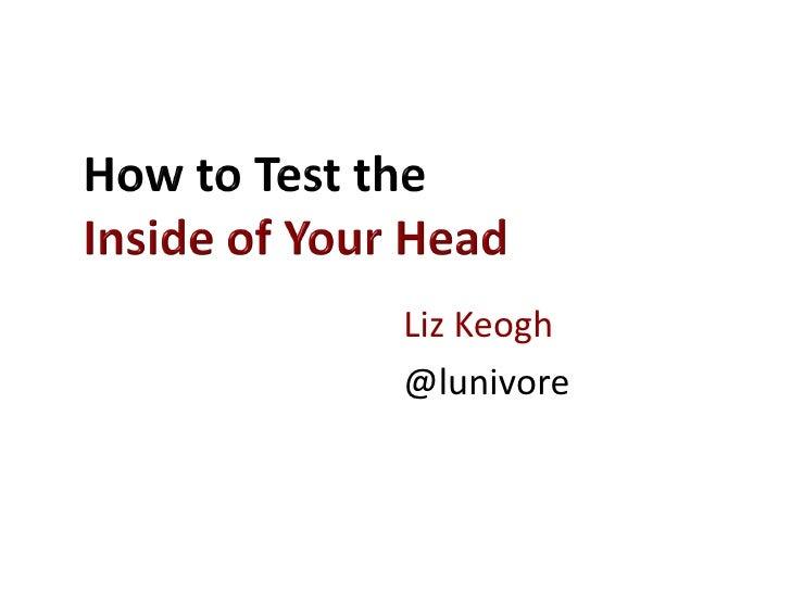 Liz Keogh@lunivore