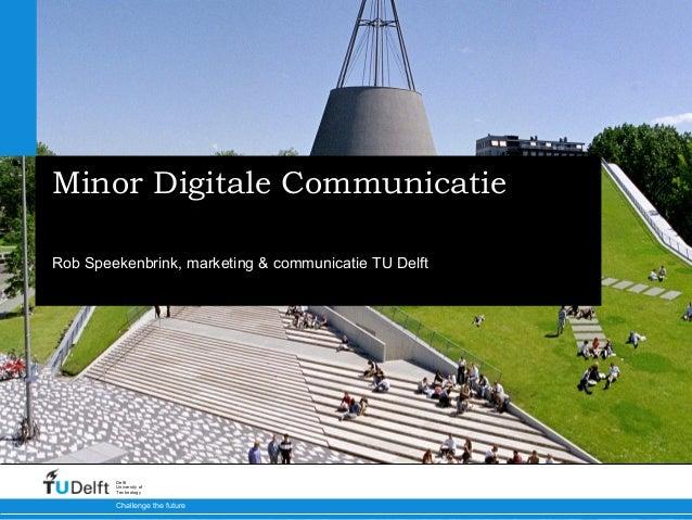 Minor HHS Digitale Communicatie 20131016
