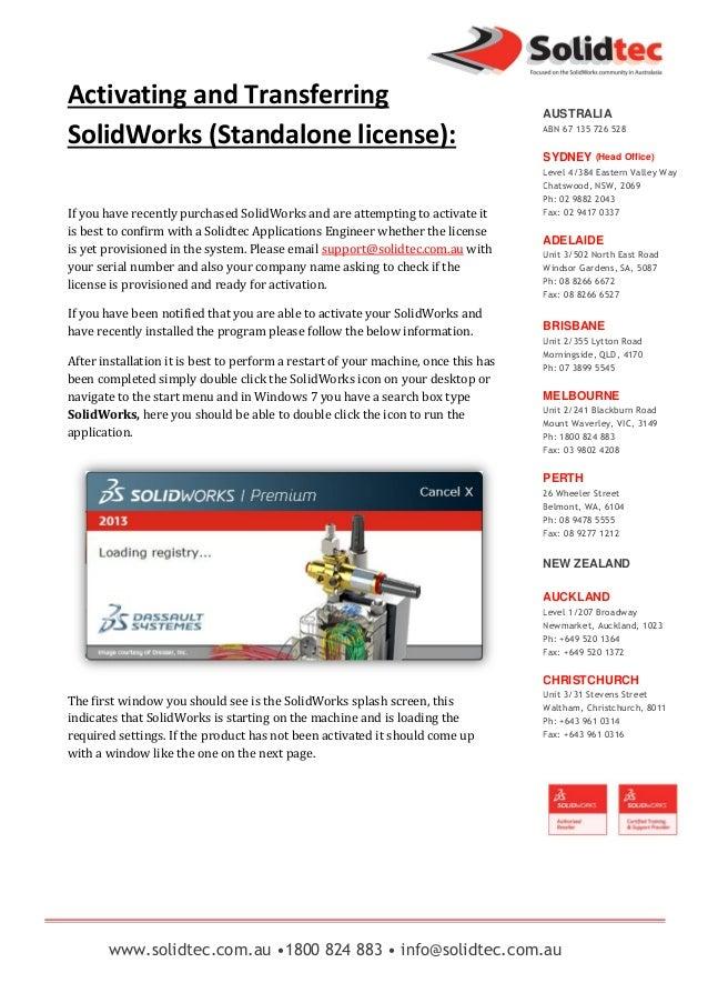 www.solidtec.com.au •1800 824 883 • info@solidtec.com.au AUSTRALIA ABN 67 135 726 528 SYDNEY (Head Office) Level 4/384 Eas...