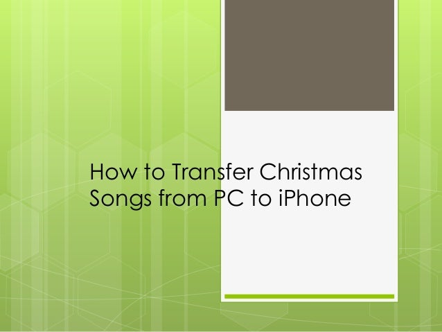 how to add songs to iphone from pc