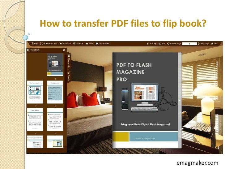 How to transfer PDF files to flip book?                               emagmaker.com