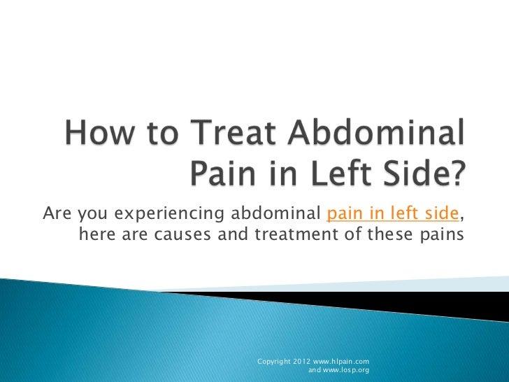 dull pain in lower left abdomen