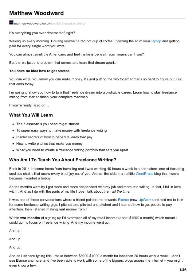 "how to get into freelance writing When people find out that i'm a freelance writer, one of the first things they want to know is, ""how did you get into that"" sometimes it's just passing."