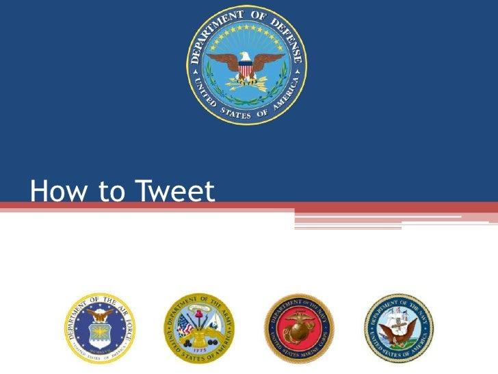How to Tweet<br />