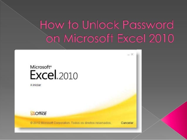 Question: How to Unprotect an Excel 2010 Workbook?  I protect a workbook in Excel 2010 with a password. I have the pass...