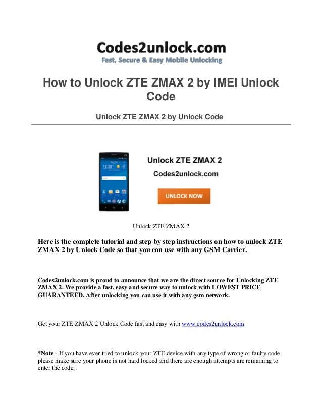 Memory zte zmax pro how to unlock may find