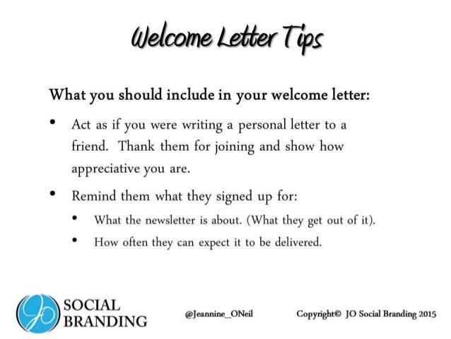 How To Create And Update Your Constant Contact Welcome Letter