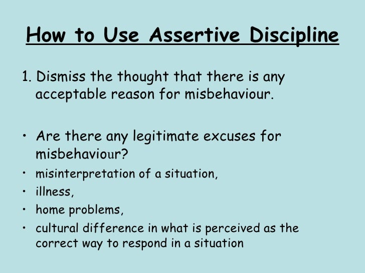 How to use assertive discipline
