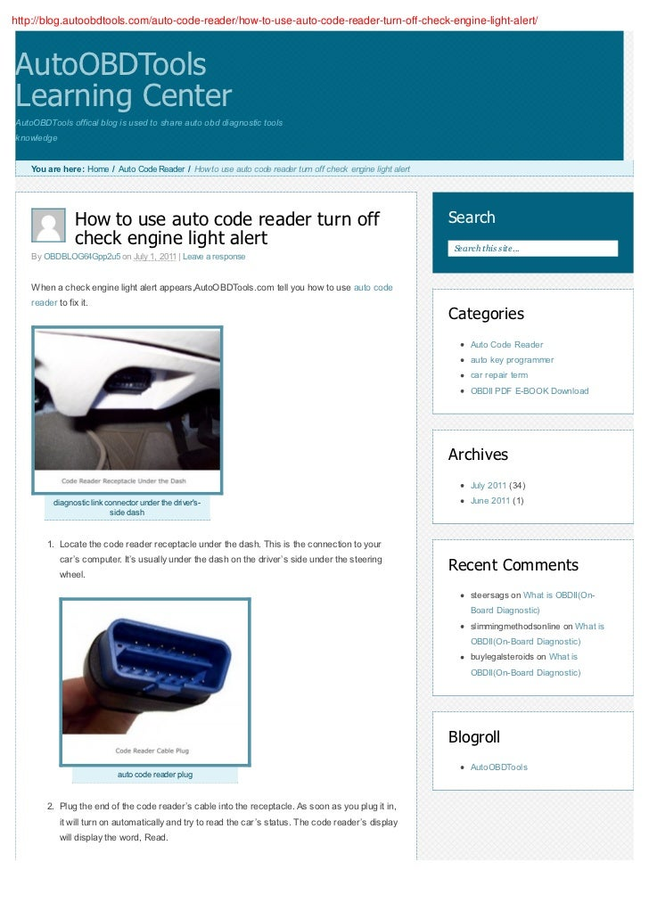 How to use auto code reader turn off check engine light alert