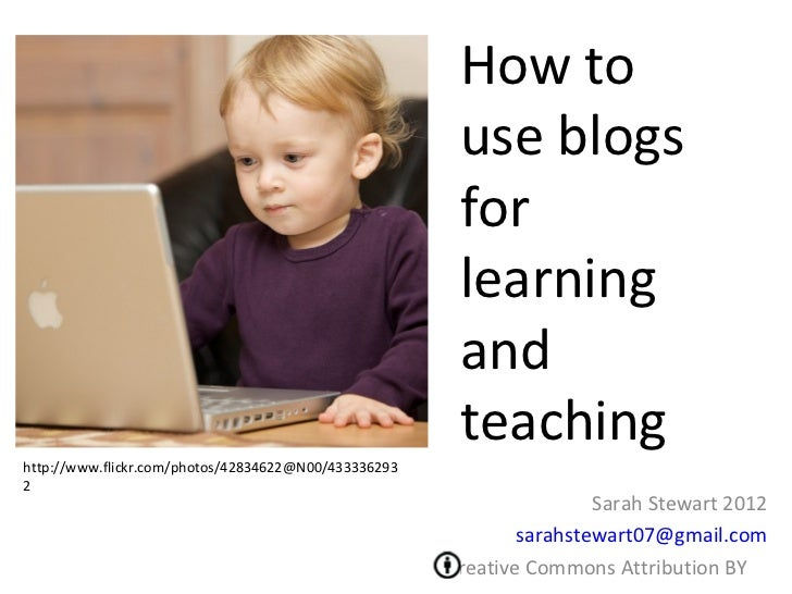How to use blogs for learning and teaching