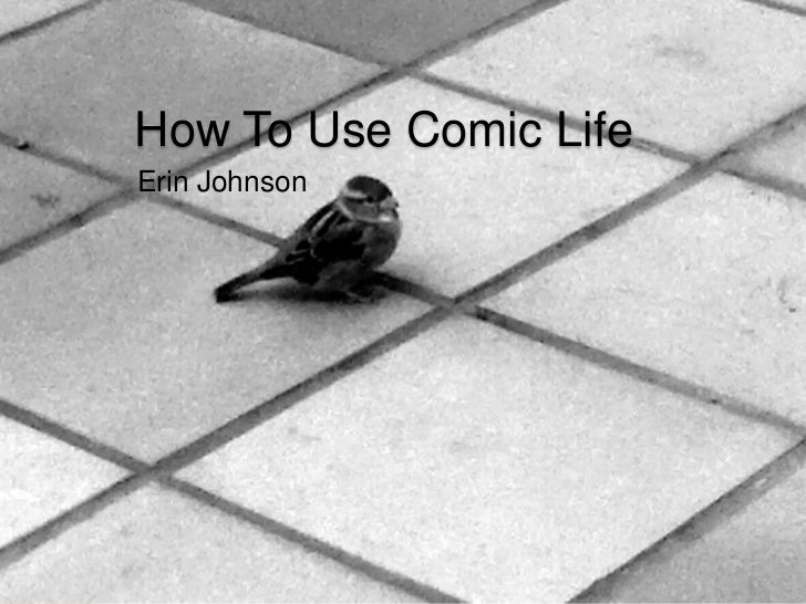 How to use comic life