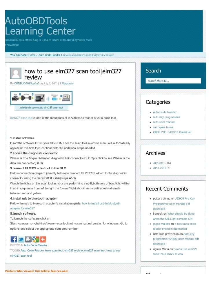 AutoOBDToolsLearning CenterAutoOBDTools offical blog is used to share auto obd diagnostic toolsknowledge    You are here: ...