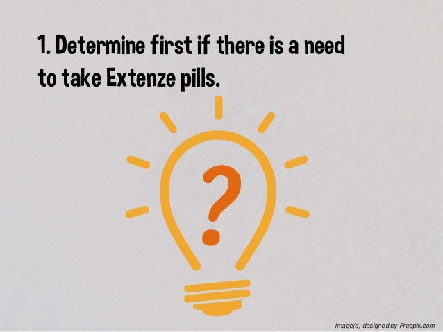 Extenze Pill Facts