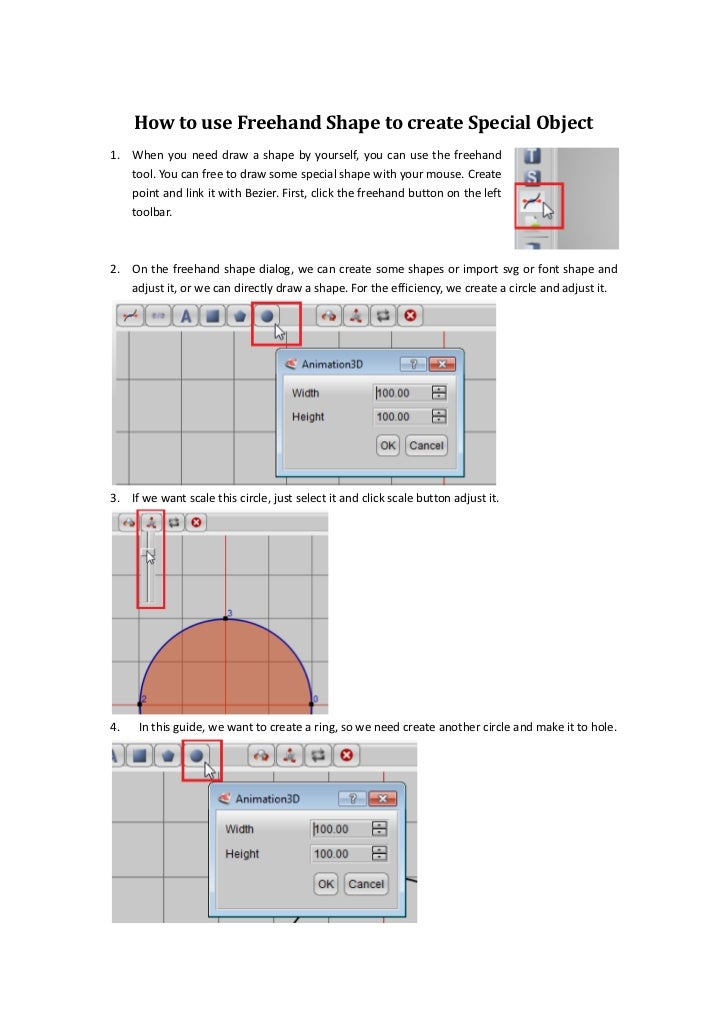 How to use freehand shape to create special object
