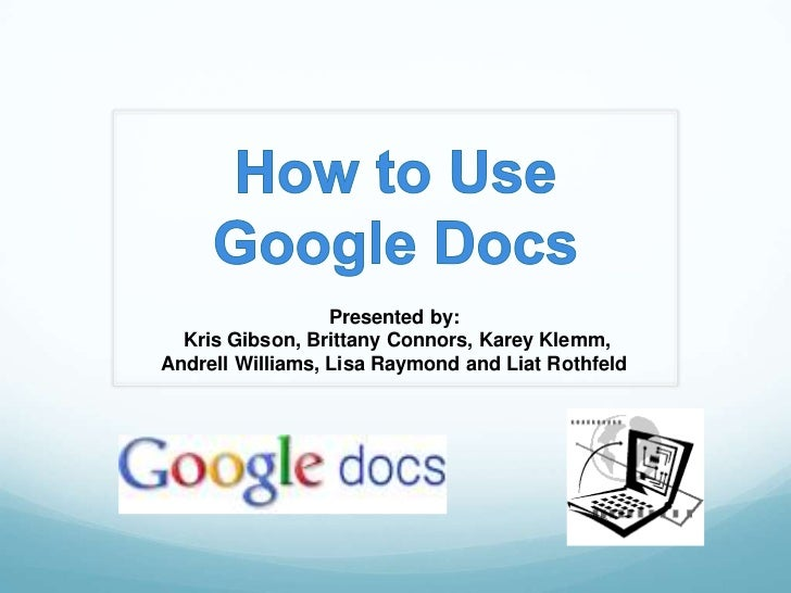 How to Use Google Docs - Part 1