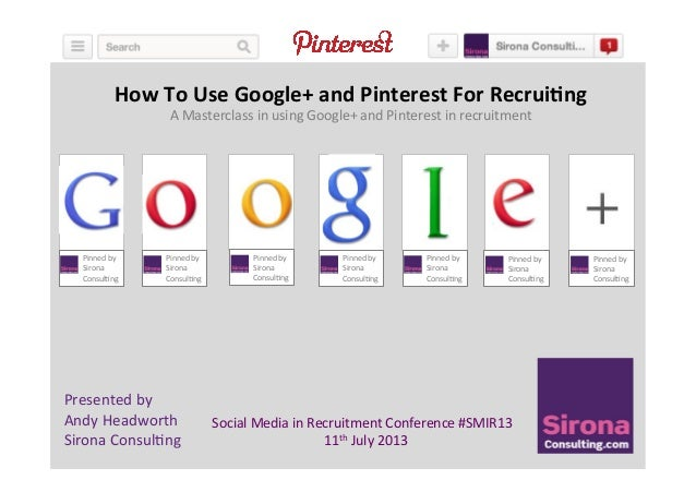 How to use Google Plus and Pinterest for Recruiting