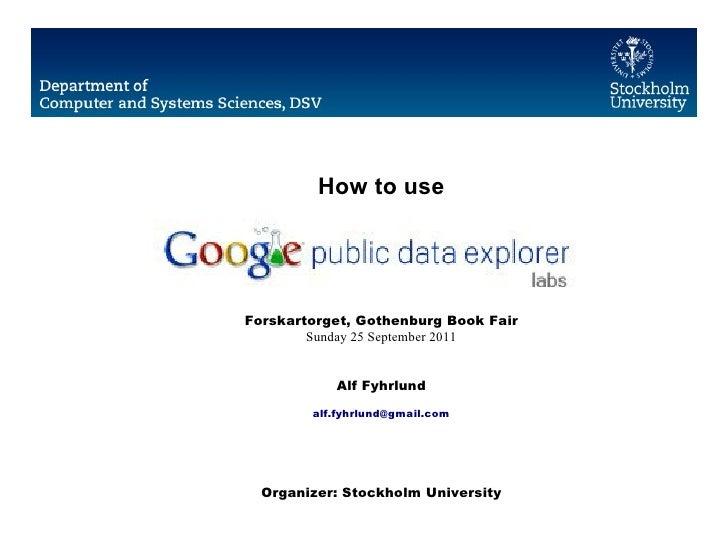 How to use Google Public Data Explorer