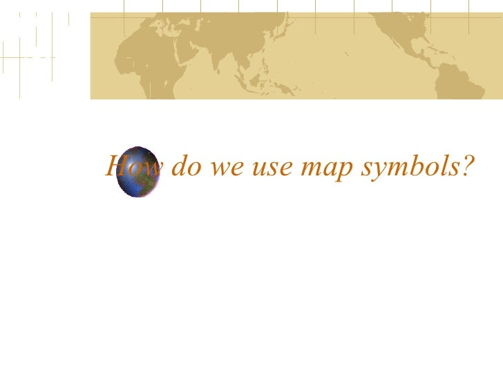 How to use map symbols