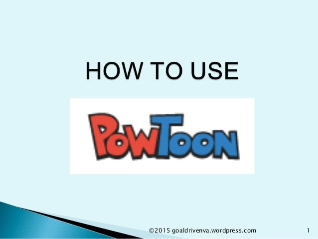 how to use powtoon