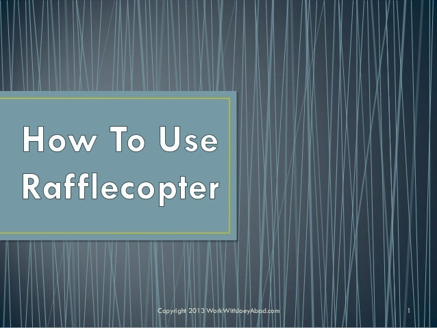 How to Use Rafflecopter to Create a Social Media Contest