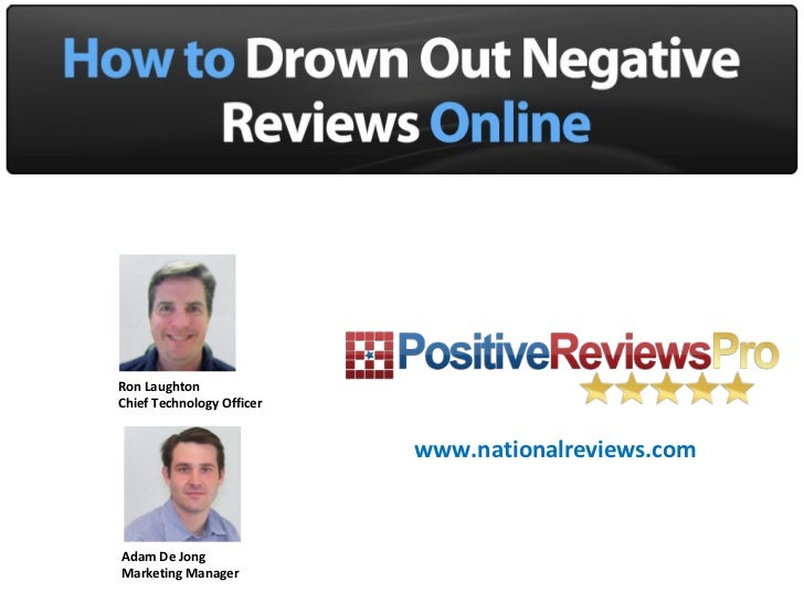 How to Drown Out Negative Reviews Online
