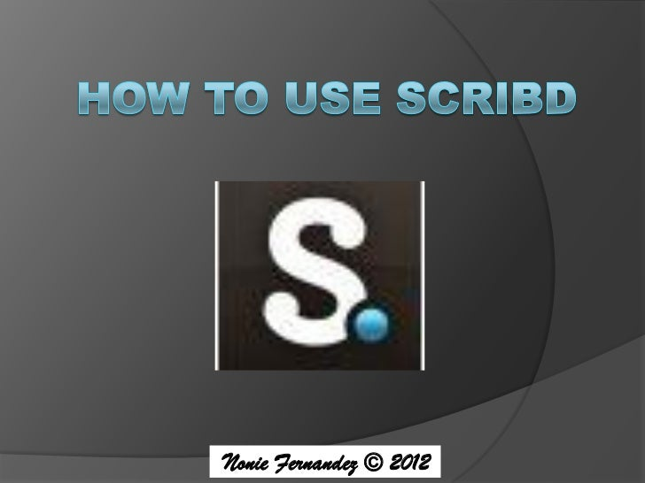 How To Use SCRIBD.pdf