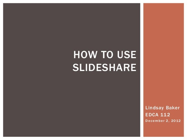 How to use slide share