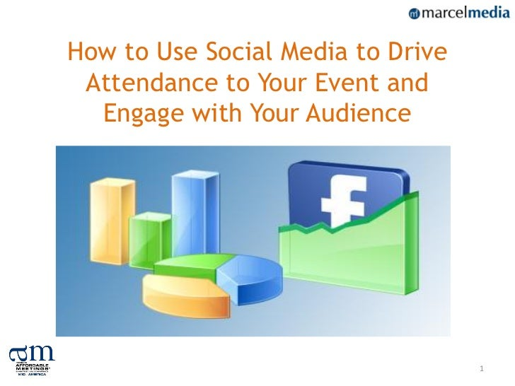 How to Use Social Media to Drive Attendance to Your Event and  Engage with Your Audience                                   1
