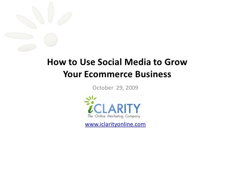 How To Use Social Media To Grow Your Ecommerce Business