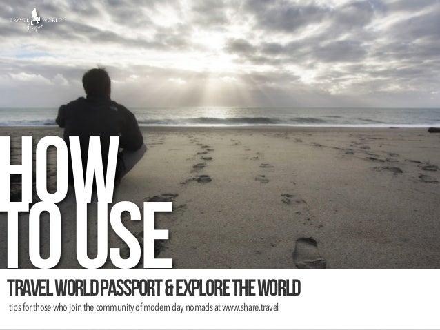 How to use travel world passport