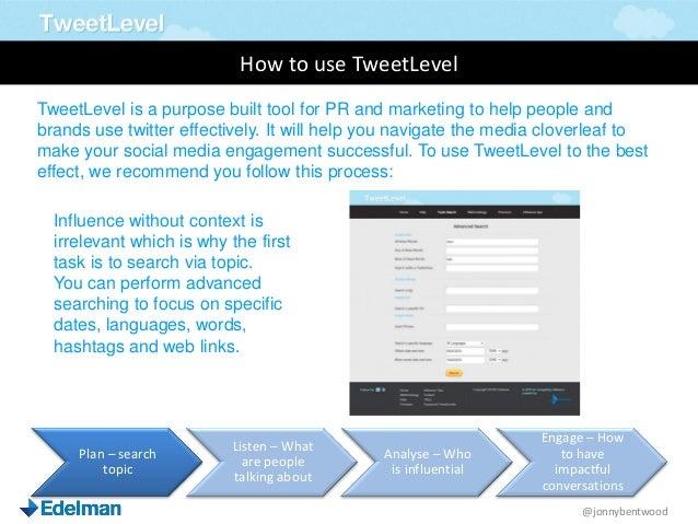 How to Use TweetLevel
