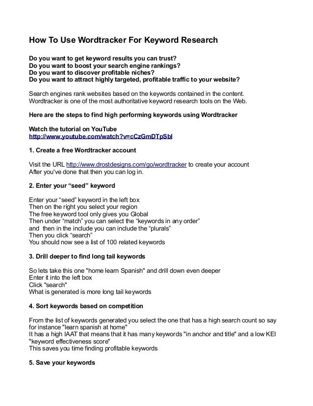 How To Use Wordtracker For Keyword Research Do you want to get keyword results you can trust? Do you want to boost your se...