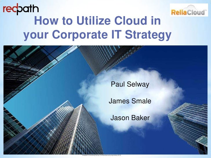 How to utilize cloud in your corporate IT strategy