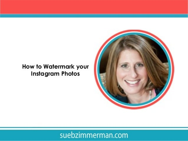 How to watermark your Instagram photos