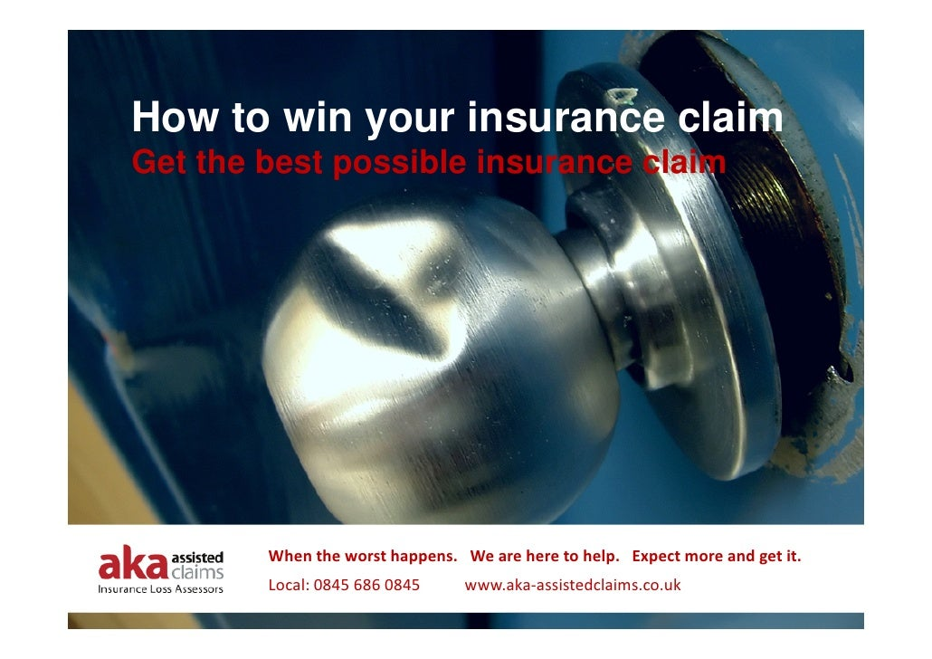 How to win your insurance claim Get the best possible insurance claim             When the worst happens.   We are here to...