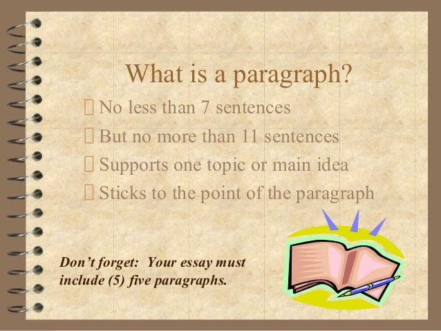 How would I write a 5 paragraph essay?