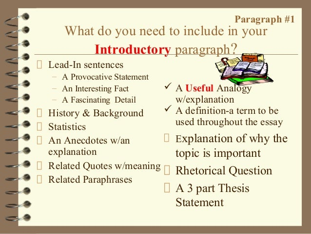 steps for writing a 5 paragraph essay Since any subject can include a five paragraph essay, you'll want to be good at writing them how to write a five paragraph essay steps part 1.