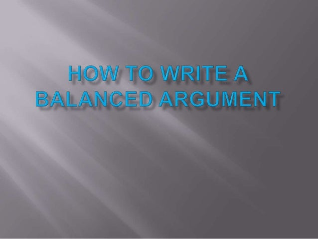 balanced essay