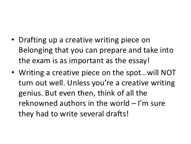 Belonging creative writing band 6: Fast Online Help